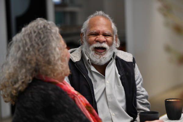 Aboriginal man laughing