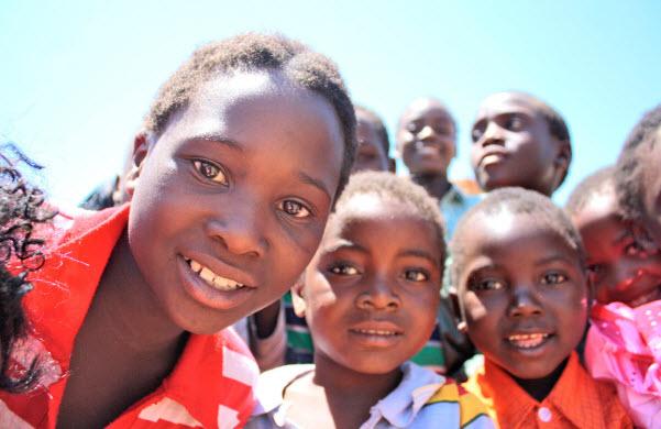 Native kids smiling at the camera