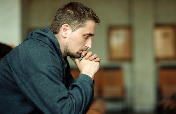 Man thinking about something