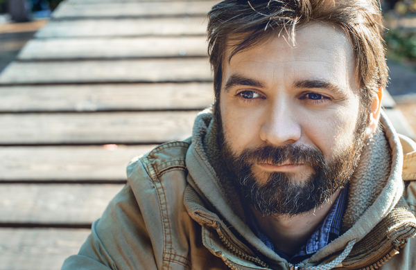 Portrait of young bearded man