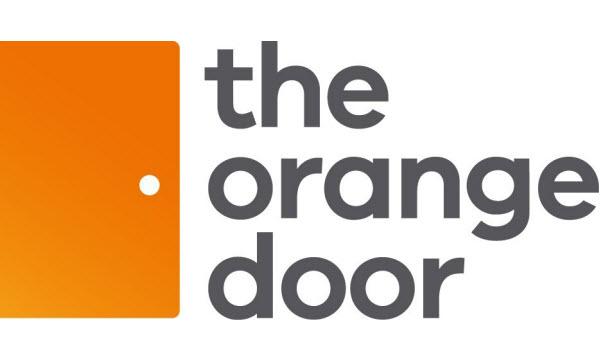The orange door logo